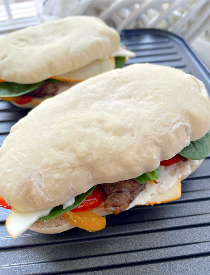Panini Sandwiches being grilled