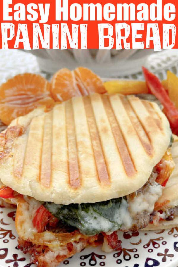 Easy Homemade Panini Bread | Foodtastic Mom #paninirecipes #paninibread #breadrecipes #paninisandwiches #bread via @foodtasticmom