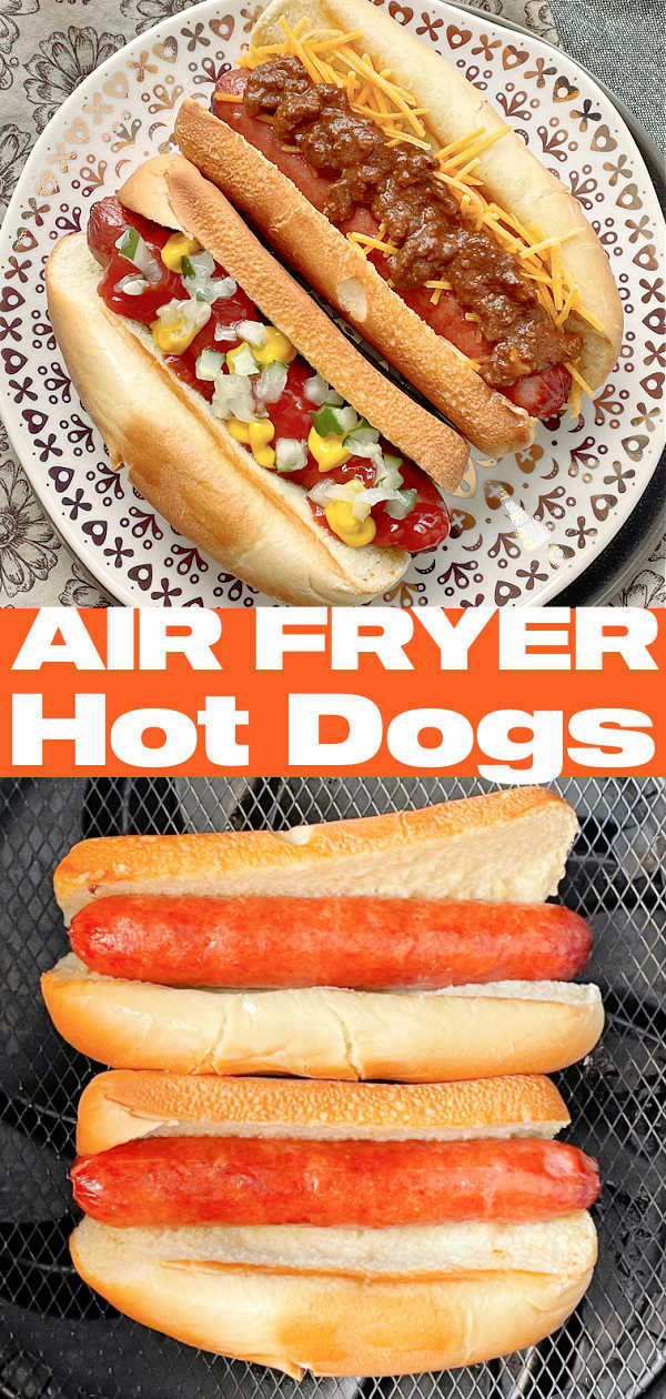 Air Fryer Hot Dogs | Foodtastic Mom #airfryerrecipes #airfryerhotdogs #hotdogsinairfryer via @foodtasticmom