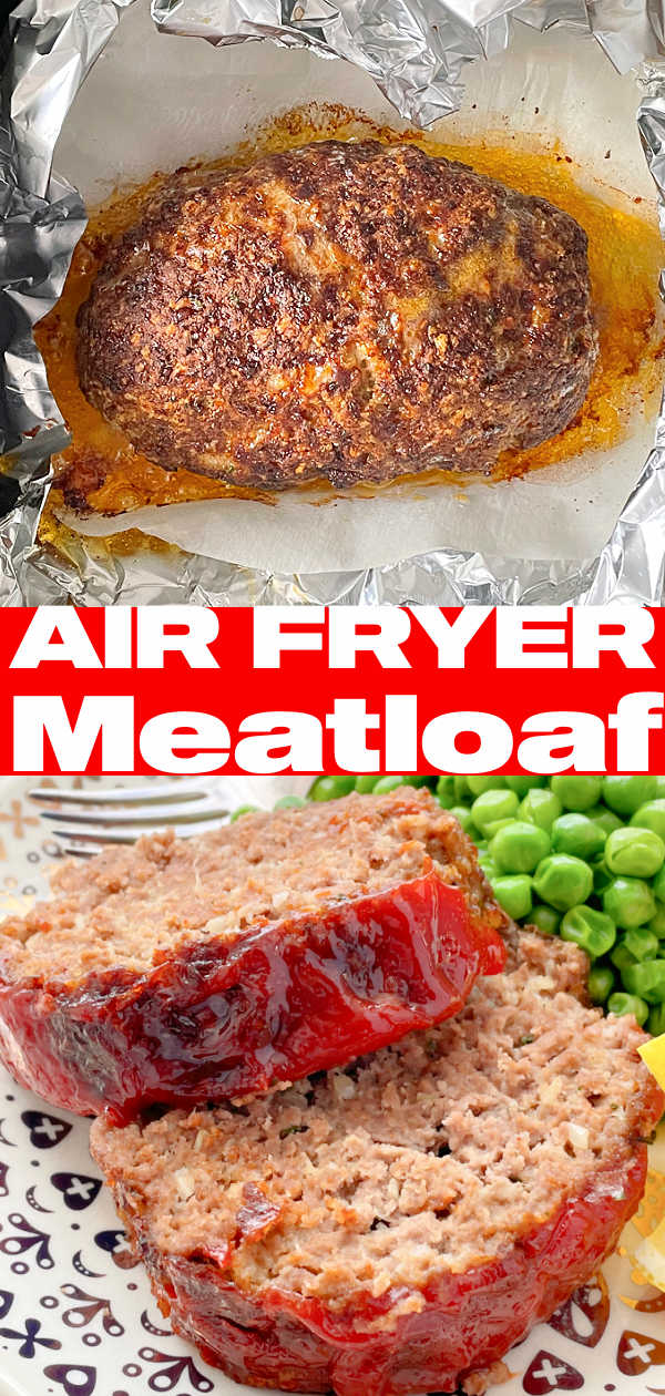 Air Fryer Meatloaf | Foodtastic Mom #airfryerrecipes #meatloafrecipes #airfryermeatloaf via @foodtasticmom