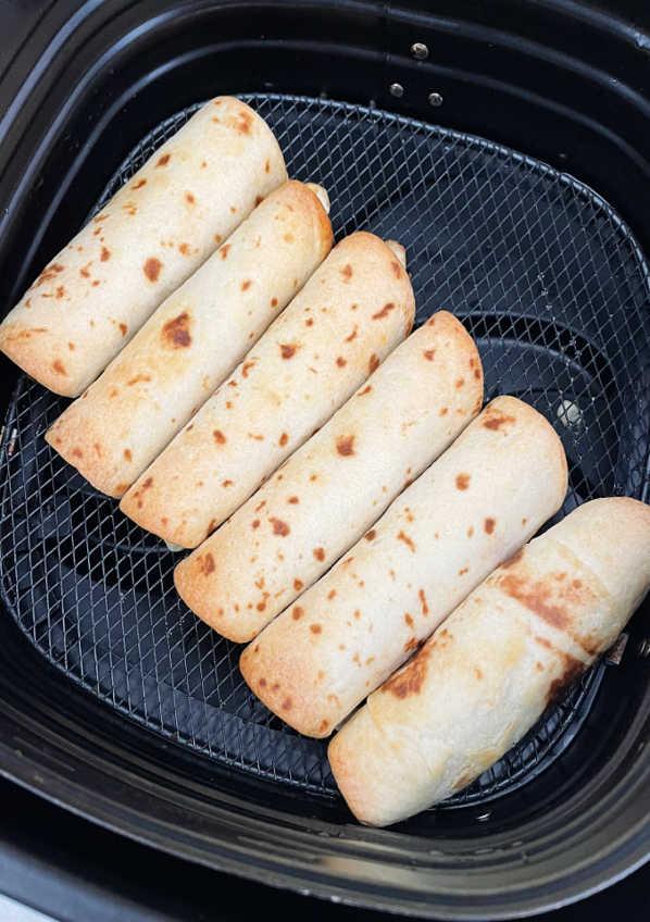 chicken taquitos in air fryer basket