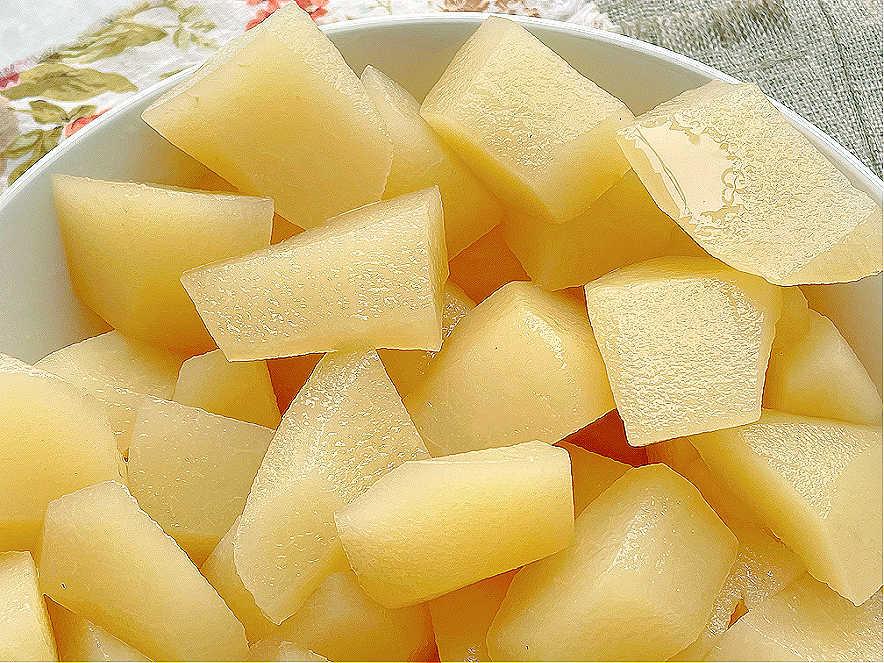 horizontal photo of stewed pears