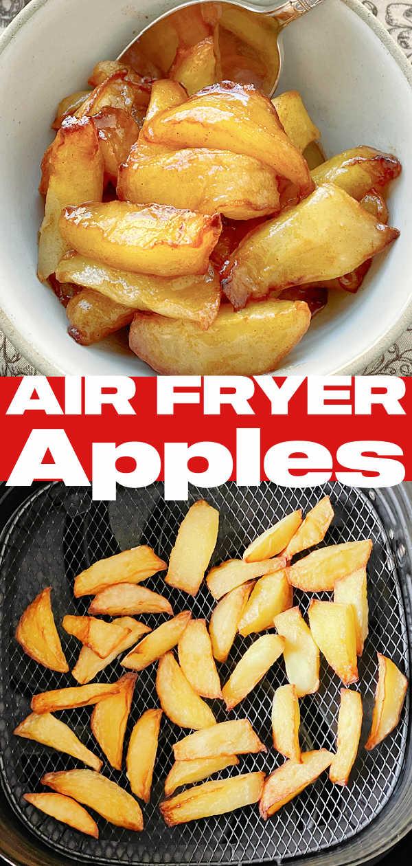 Air Fryer Apples | Foodtastic Mom #airfryerrecipes #airfryerapples #applerecipes via @foodtasticmom