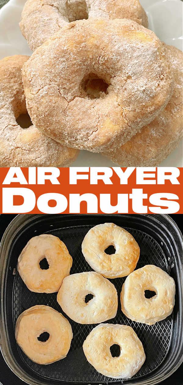 Air Fryer Donuts | Foodtastic Mom #airfryerrecipes #airfryerdonuts #donutrecipe via @foodtasticmom