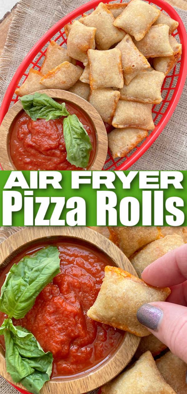 Air Fryer Pizza Rolls | Foodtastic Mom #airfryerrecipes #pizzarolls #pizzarollsinairfryer via @foodtasticmom