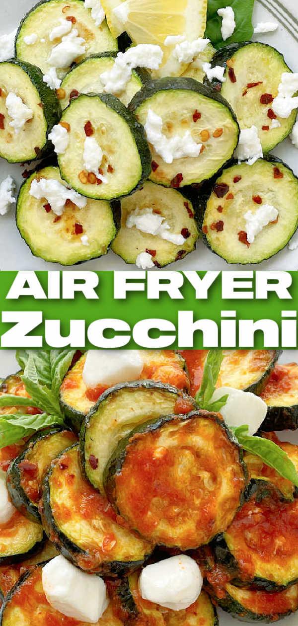 Air Fryer Zucchini | Foodtastic Mom #airfryerrecipes #airfryerzucchini #zucchinirecipes #lowcarbrecipes via @foodtasticmom