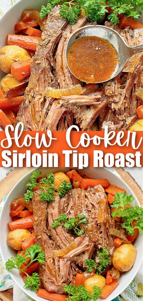 Slow Cooker Sirloin Tip Roast | Foodtastic Mom #slowcookerrecipes #sirlointiproast #potroast #beefstew via @foodtasticmom