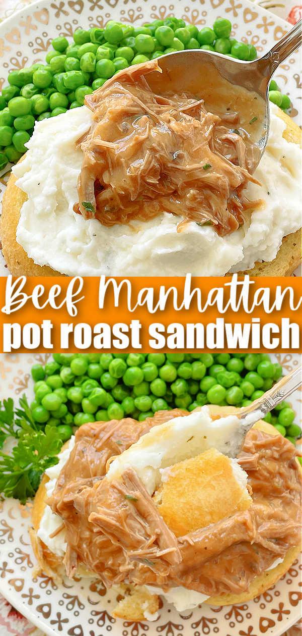 Beef Manhattan | Foodtastic Mom #potroast #leftovers #beefrecipes #beefmanhattan #beefmanhattanrecipe via @foodtasticmom