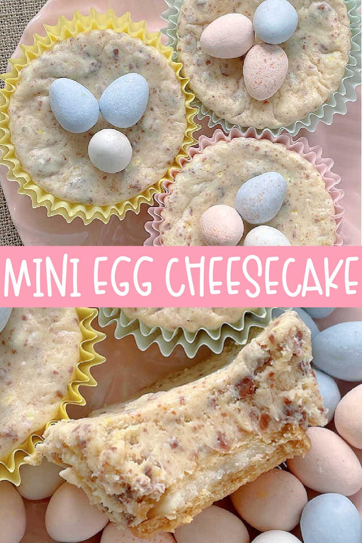 Mini Egg Cheesecake | Foodtastic Mom #minieggcheesecake #minieggrecipes #minieggdesserts via @foodtasticmom