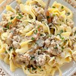 Pork Stroganoff | Foodtastic Mom #porkrecipes #porkstroganoff #stroganoff #groundporkrecipes #stroganoffrecipeeasy