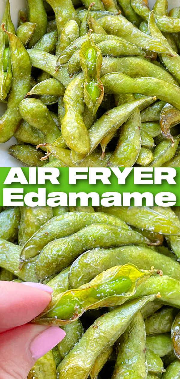Air Fryer Edamame | Foodtastic Mom #airfryerrecipes #edamame #airfryeredamame via @foodtasticmom