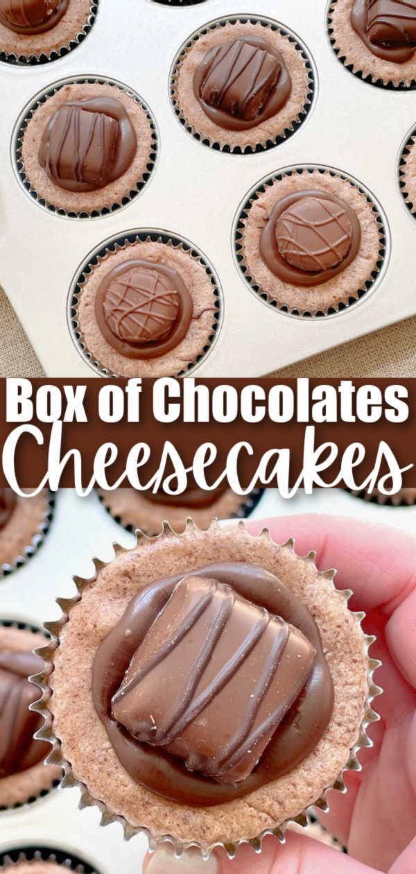 Box of Chocolates Cheesecake | Foodtastic Mom #cheesecakerecipes #cheesecake #cheesecakebites #cheesecakerecipeseasy via @foodtasticmom