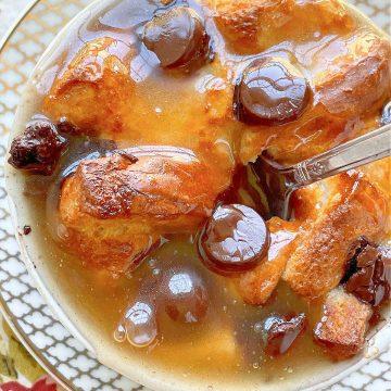 Air Fryer Bread Pudding | Foodtastic Mom #airfryerrecipes #breadpudding #airfryerbreadpudding #dessertrecipes