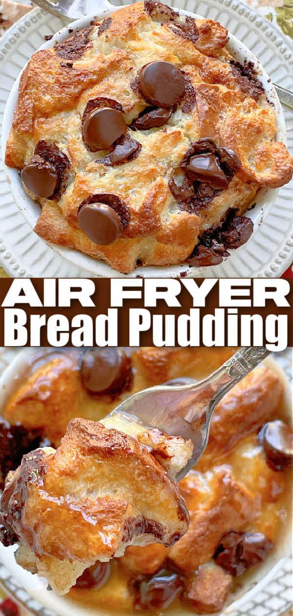 Air Fryer Bread Pudding | Foodtastic Mom #airfryerrecipes #breadpudding #airfryerbreadpudding #dessertrecipes via @foodtasticmom