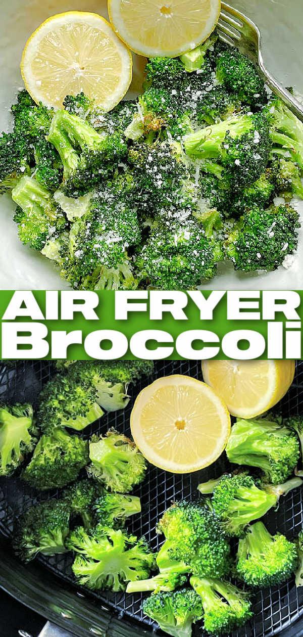 Air Fryer Broccoli | Foodtastic Mom #airfryerbroccoli #airfryerrecipes #broccolirecipes via @foodtasticmom