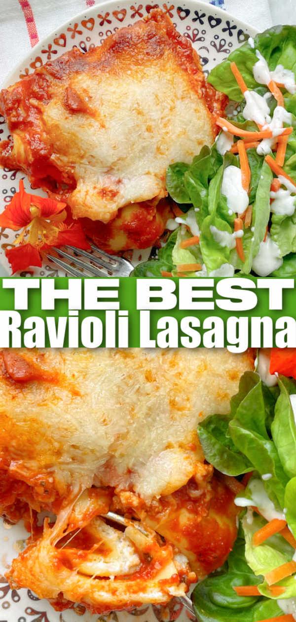 Ravioli Lasagna   Foodtastic Mom #lasagnarecipes #ravioli #raviolilasagna #easydinner via @foodtasticmom