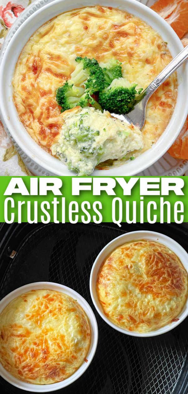 Air Fryer Quiche | Foodtastic Mom #airfryerrecipes #airfryerquiche #crustlessquiche #quicherecipes via @foodtasticmom