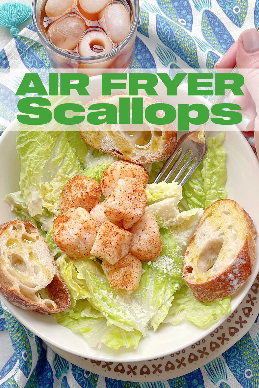 Air Fryer Scallops | Foodtastic Mom #airfryerrecipes #scalloprecipes #airfryerscallops #howtocookscallops via @foodtasticmom