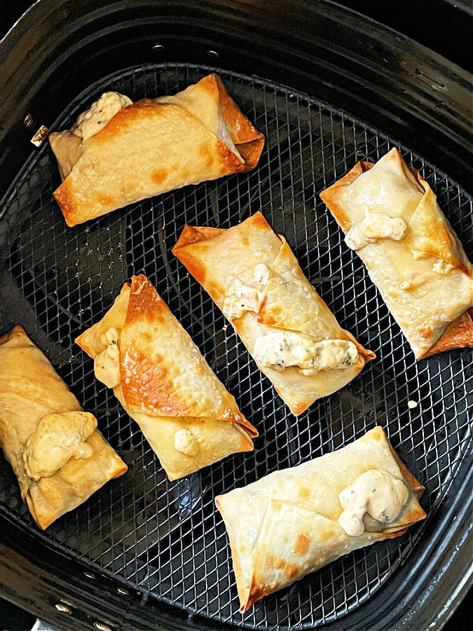 feta cheese rolls in the air fryer basket