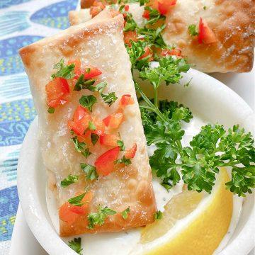 Air Fryer Feta Cheese Rolls | Foodtastic Mom #airfryerrecipes #eggrolls #fetarolls #airfryerfetacheeserolls