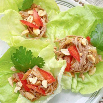 Slow Cooker Satay Pork | Foodtastic Mom #slowcookerrecipes #porkrecipes #porksatay #slowcookersataypork