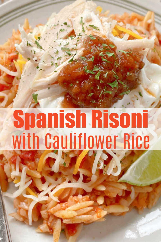 Spanish Risoni | Foodtastic Mom #risonirecipes #cauliflowerrice #spanishrice #spanishrisoni via @foodtasticmom