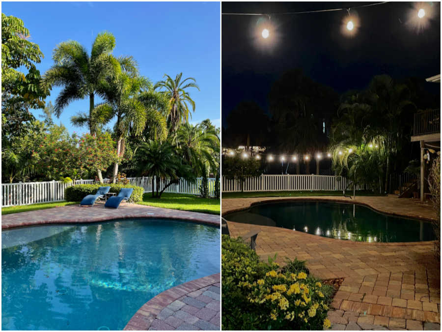 fort myers air bnb photo collage of pool area