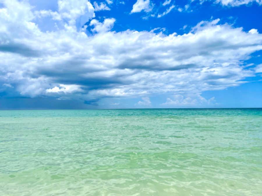 view of the gulf of mexico at bonita springs beach florida