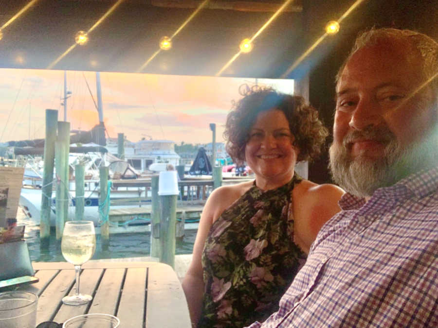 jill and jesse at the dixie fish company in fort myers florida