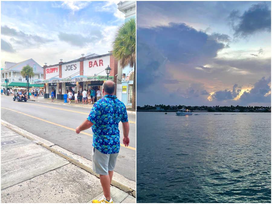 sloppy joe's bar and sunset in key west florida
