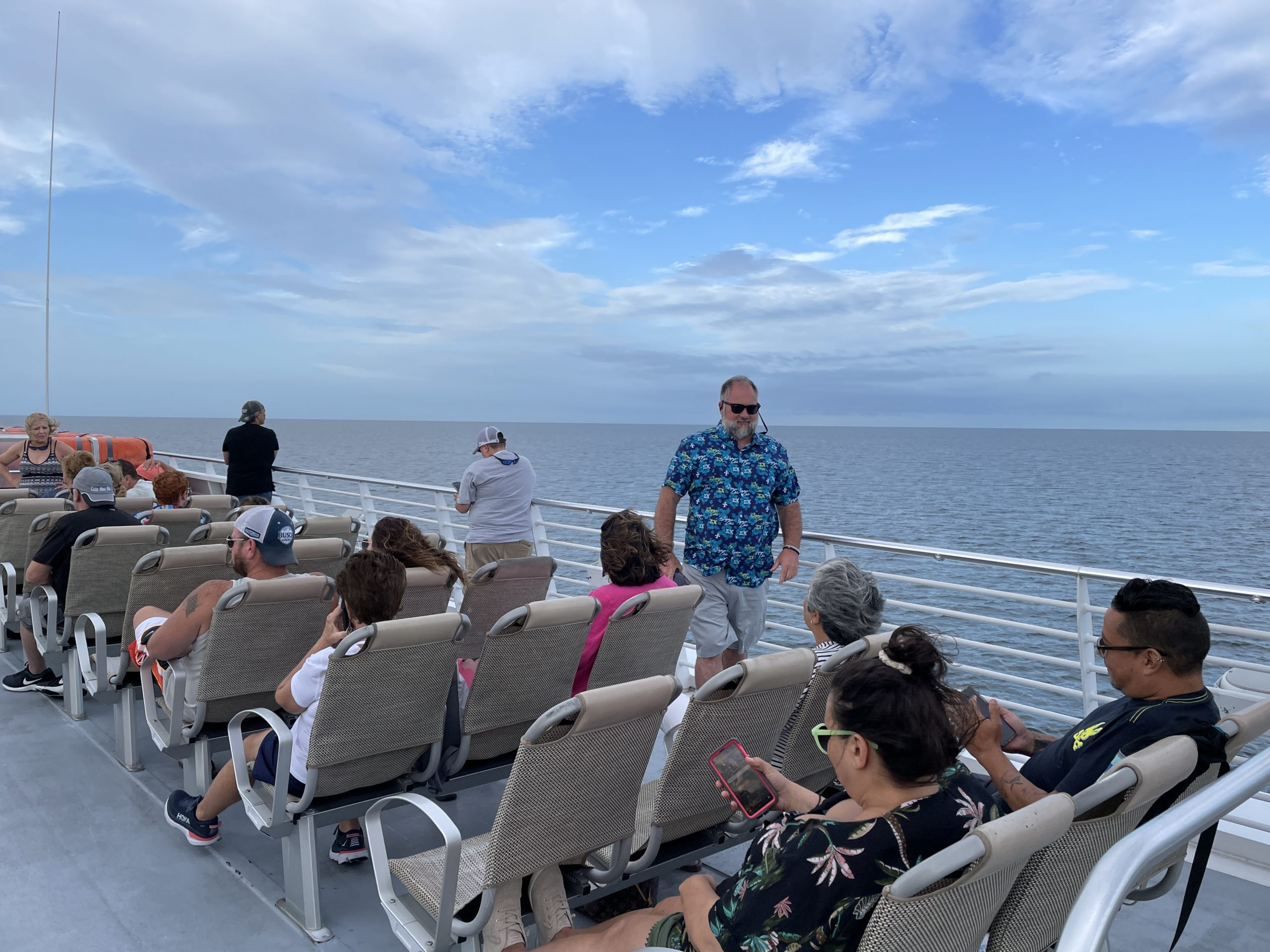 riding on top of the key west express from fort myers to key west