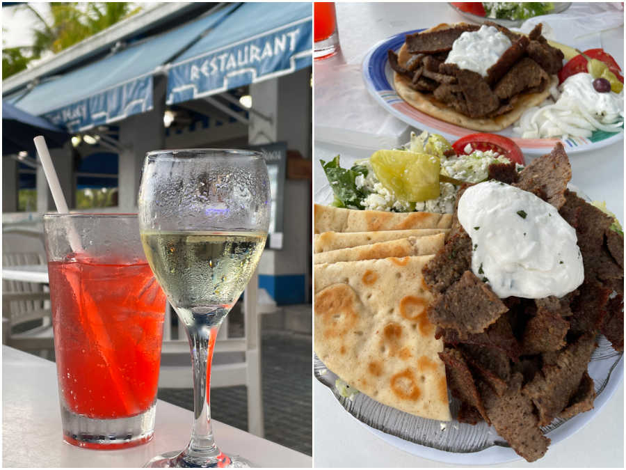 food and drink at plaka on the beach in fort myers florida
