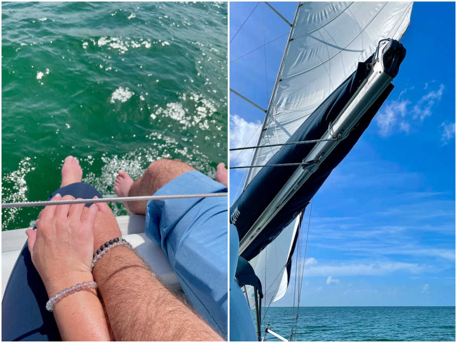 holding hands on a sailboat in fort myers florida