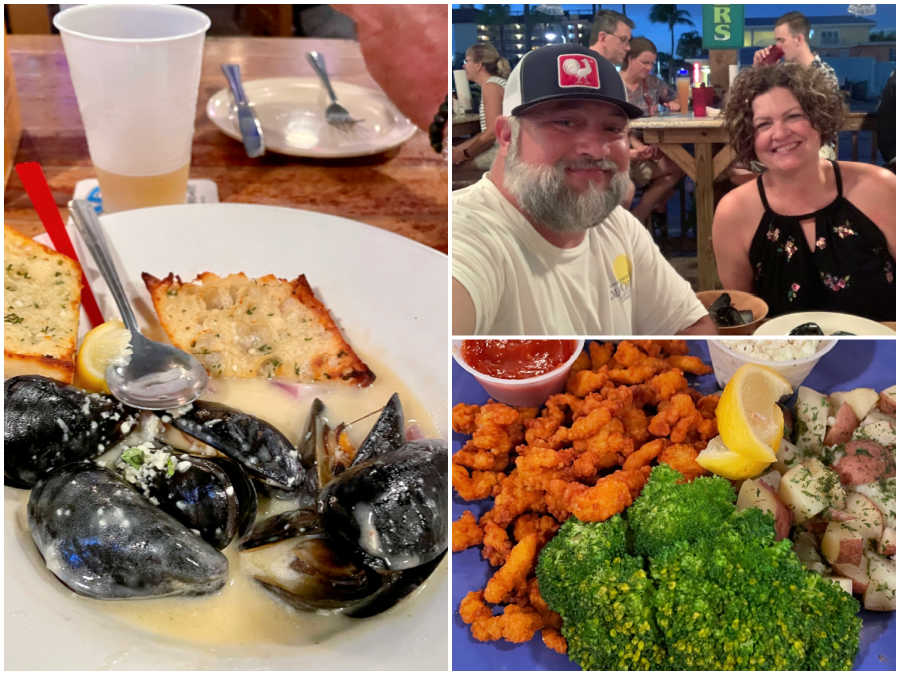 date night at Smokin Oyster Brewery in Fort Myers Beach Florida