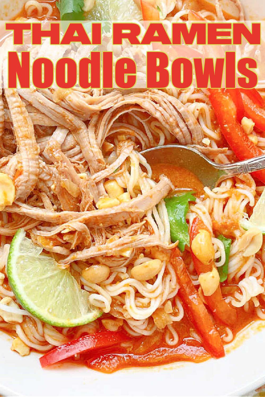 Thai Ramen | Foodtastic Mom #thairamen #thairecipes #ramennoodles #thairamennoodlebowls via @foodtasticmom