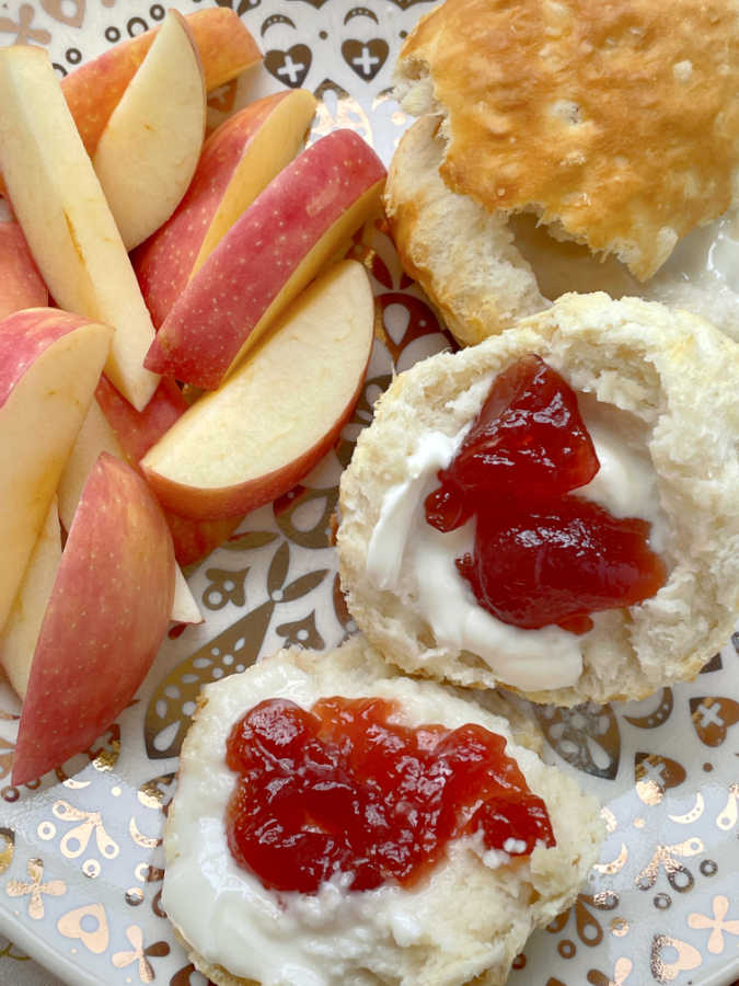 air fryer frozen biscuits with butter and jam